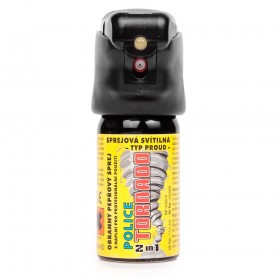 Gaz pieprzowy Police Tornado wyposażony w latarkę LED