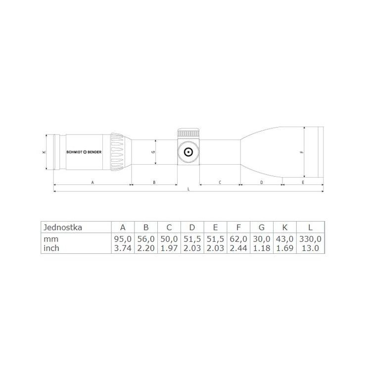 Luneta myśliwska Schmidt & Bender 2,5-10x56 Zenith FlashDot