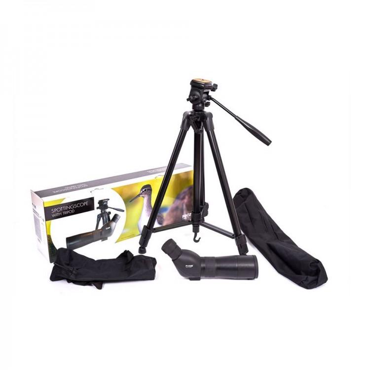 Luneta na strzelnicę Focus Hawk 15-45×60 z dużym statywem i torbą