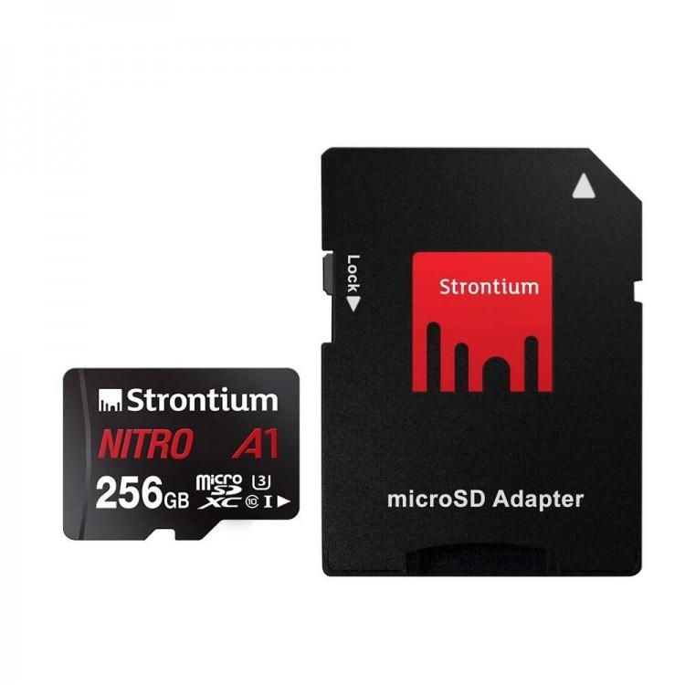 Ultraszybka karta pamięci Nitro microSDXC Strontium A1 256GB
