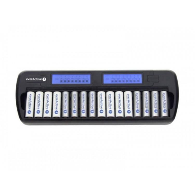 Mikro-procesowa ładowarka everActive NC-1600 16 kanałów