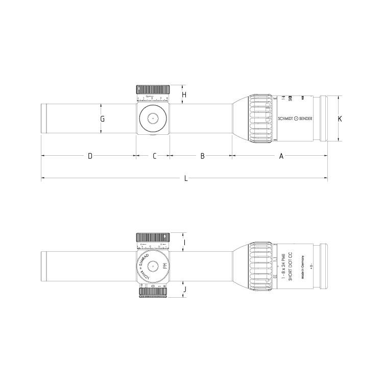 Luneta celownicza Schmidt & Bender 1-8x24 PM II ShortDot CC