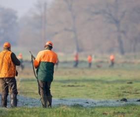 Grupa myśliwych na polowaniu