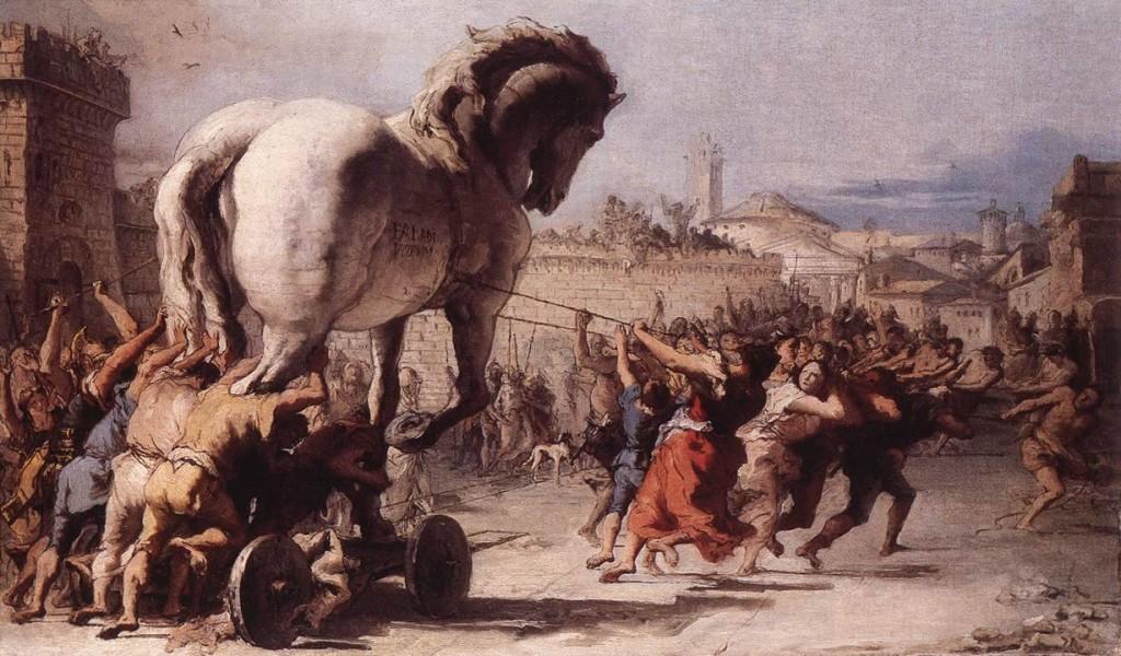 Koń Trojański - Domenico Tiepolo (1773)