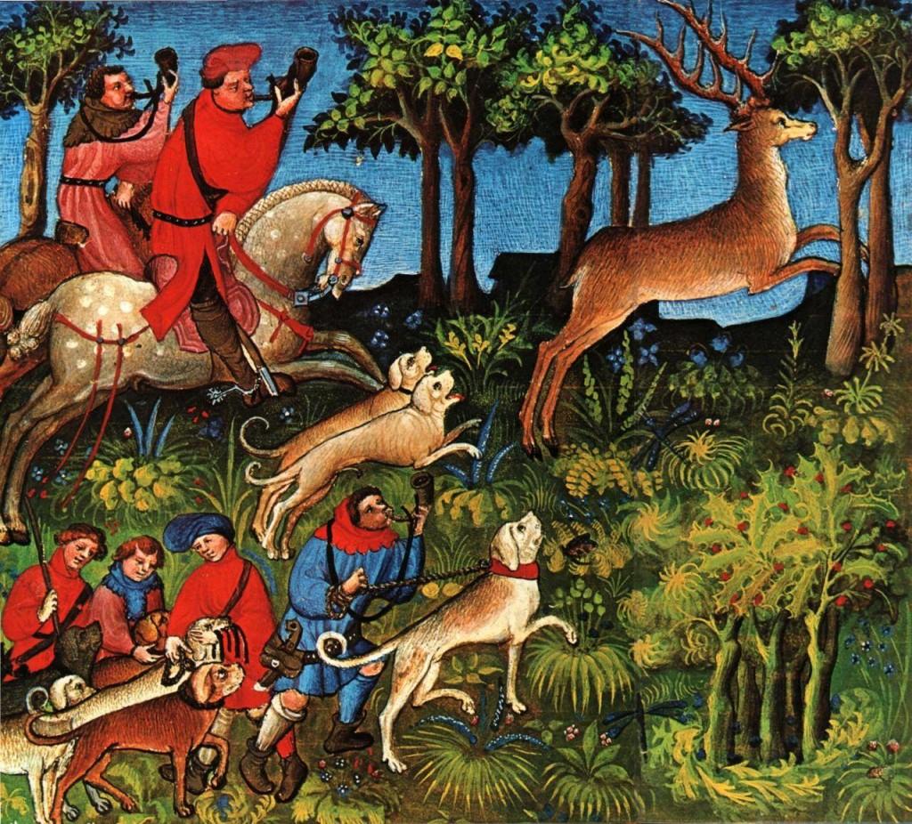 Obraz z księgi łowów (Livre de la Chasse)