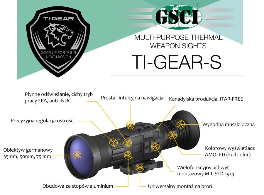 Celownik termowizyjny dla myśliwych GSCI TI-GEAR-S