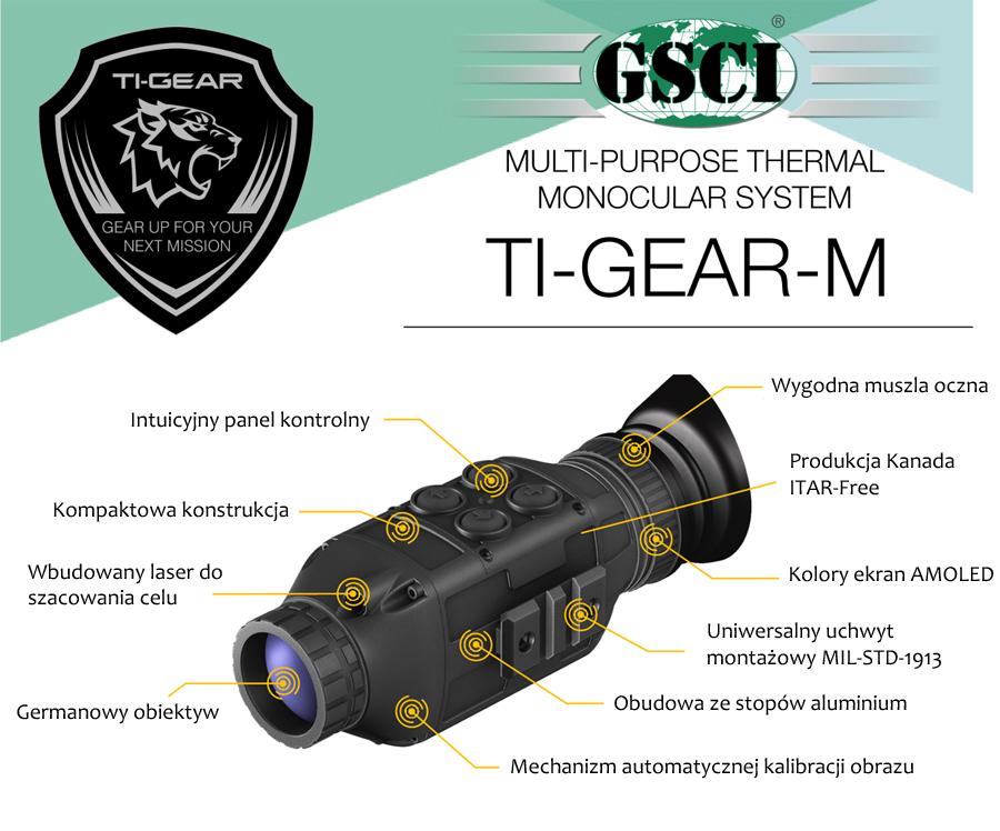 Kamera termowizyjna GSCI TI-GEAR-M do obserwacji i polowań
