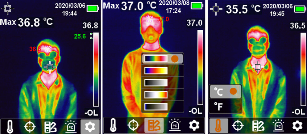 Ręczna kamera termowizyjna UT-160Hi do pomiaru temperatury ludzi z koronawirusem