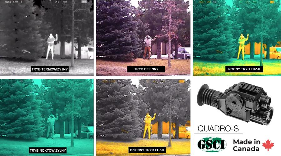 Noktowizyjno-termowizyjny system do obserwacji GSCI QUADRO-S
